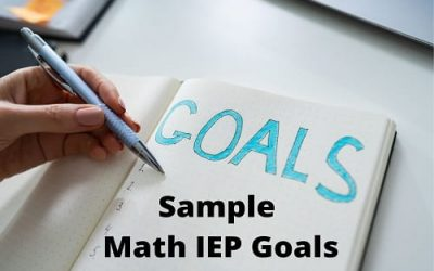 Math IEP Goals For Special Education