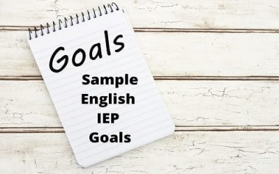 English/Reading IEP Goals For Special Education