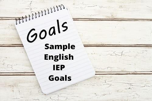 Sample English IEP Goals